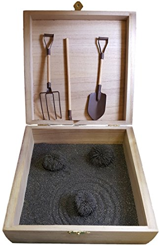 MagZen® - Unique Magnetic Zen Garden Zen Box, Tabletop/Desktop Zen Garden Kit for Relaxation, Stress Relief, Creativity and Magnetic Science