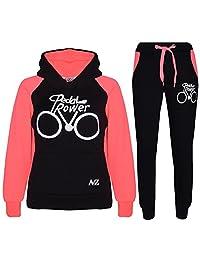 Kids Tracksuit Girls Boys Designer's Pedal Power Top Bottom Jogging Suit 5-13 Yr