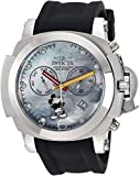 Invicta Men's 'Disney Limited Edition' Quartz Stainless Steel and Silicone Casual Watch, Color:Black (Model: 24685)