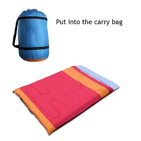 Anam separable doble par adultos saco de dormir 100% algodón interior capa acampar al aire
