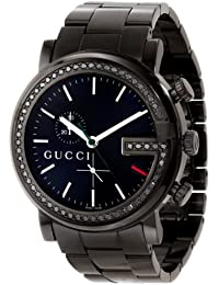 "G-Chrono"" Stainless Steel Diamond-Accented Wnisex Watch(Model:YA101347)"