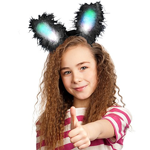 Fun Central G243 LED Bunny Ears Premium - (Glow Bunny Ears)