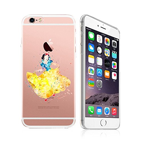 iPhone 5C, DECO FAIRY Art Paint Splash Ultra Slim Translucent Silicone Clear Case Gel Cover for Apple (my favorite princess )