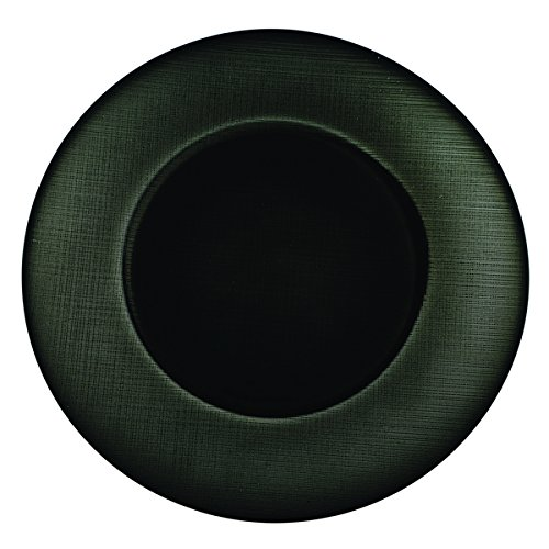 Christmas Tablescape Décor - Black glass linen-textured charger plates - Set of 4