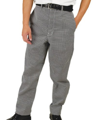 Phoenix Chef's Pants, Black/White Check, Small, 30 by 32-Inch