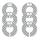 Closet Doodles C21 Gray Polka Dots Baby Clothing Dividers Set of 6 Fits 1.25inch Rod