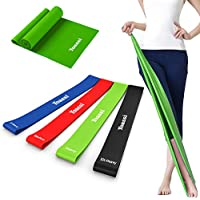 [Patrocinado] Resistance Bands Set Exercise Bands - Thicker Workout Bands Stretch Bands - Premium Workout Bands Kit for Legs Butt Glutes Yoga Fitness Physical Therapy Home Equipment Training for Women Men