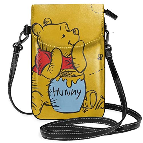 (Womens Crossbody Bags - Winnie The Pooh Small Cell Phone Purse Wallet With Credit Card Slots)