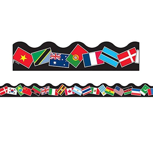 Trend Enterprises World Flags Terrific Trimmer, 2-1/4 x 39 Inches, Set of 12