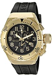Swiss Legend Men's 'Trimix Diver' Swiss Quartz Stainless Steel Casual Watch (Model: 13842-YG-01)