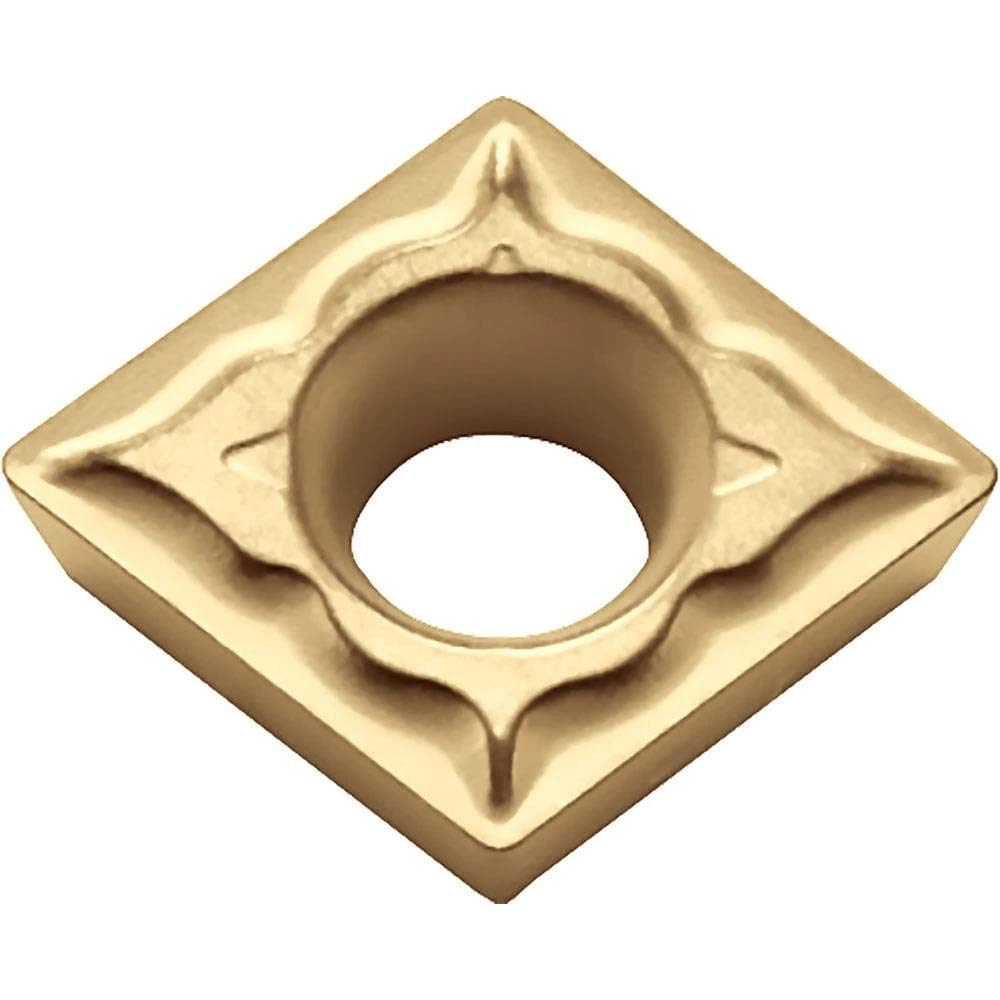 Neutral Turning Insert for Light Interruption and Medium in Steel Kyocera CPMT 322XQ CA525 Grade CVD Carbide 10 pcs 80 Degree Diamond Positive Rake Angle