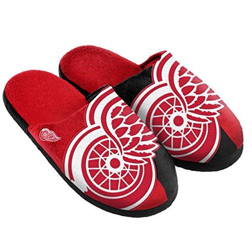 Detroit Red Wings Split Color Slide Slipper Large