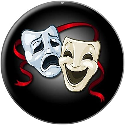 Amazon.com: Drama Comedy Tragedy Masks - Acting Theatre Theater ...