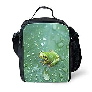 CDZD - Bolsa de almuerzo para picnic con aislamiento interior 3D, bandolera ajustable con bolsillo lateral, ligera, resistente al agua, diseño sencillo, plana, bolsa portátil para niñas, mujeres, niños