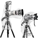 (2 Pack) Altura Photo Rain Cover for DSLR Camera - Standard and Flash Version