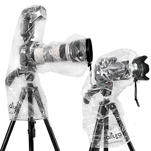 (2 Pack) Altura Photo Rain Cover for DSLR Camera – Standard and Flash Version primary
