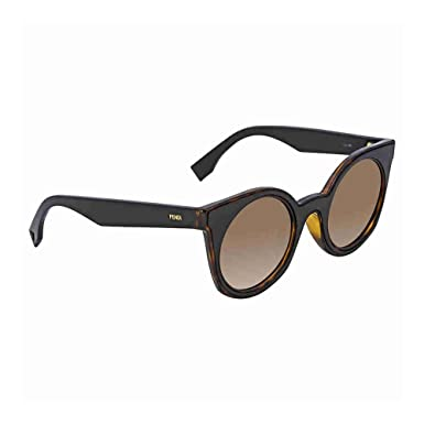 77a8e4035b00 Image Unavailable. Image not available for. Color  Fendi Brown Gradient Cat  Eye Ladies Sunglasses FF 0196 F S LC149HA