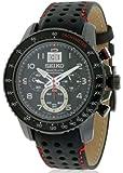 Seiko - SPC141P1 - Montre Homme - Quartz Chronographe - Cadran Noir - Bracelet Cuir Noir