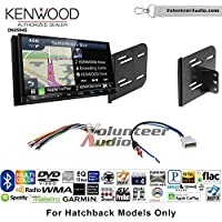 Volunteer Audio Kenwood Excelon DNX994S Double Din Radio Install Kit with GPS Navigation Apple CarPlay Android Auto Fits 2012-2013 Nissan Versa