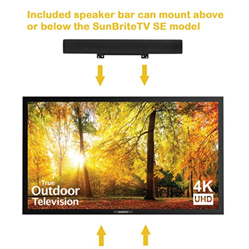 SunBriteTV SE 43-Inch Weatherproof Outdoor Television – 4K UltraHD LED TV for Permanent Outside Installation – SB-SE-43-4K-BL