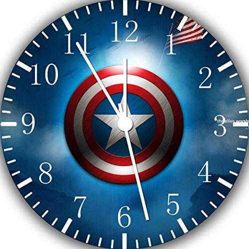Captain America Frameless Borderless Wall Clock