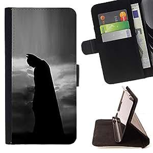 - Bat Night Black Man Movie Character/ Personalizada del estilo del dise???¡¯???¡Ào de la PU Caso de encargo del cuero del tir???¡¯????n del s - Cao - For