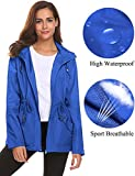 Raincoats,Women Ladies Travel Hiking Water Sun Resister Zip Up Hooded Outwear