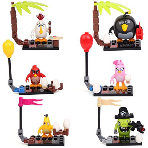 [Angry Birds Red Chuck Bomb Stella Matilda Pig 6 Minifigures Building bricks LEGO] (Child Star Wars Costume Australia)