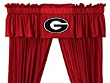 NCAA University of Georgia Bulldogs - 5pc Jersey Drapes-Curtains and Valance Set