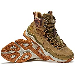 Rax Men\'s Wild Wolf Mid Venture Waterproof Lightweight Hiking Boots,Light Khaki,9.5 D(M) US