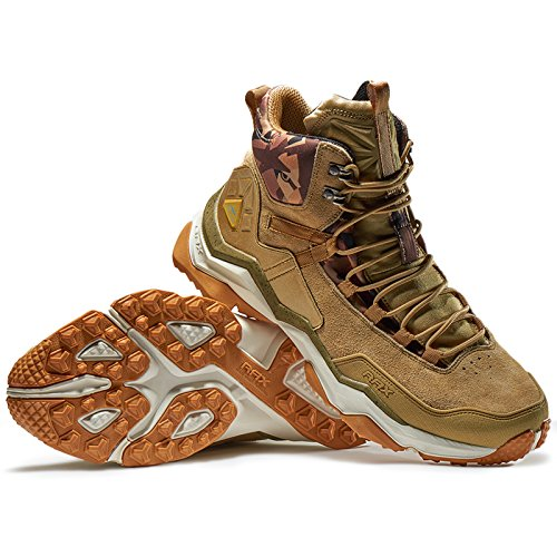 92d1731c711 Rax Men's Wild Wolf Mid Venture Waterproof Lightweight Hiking Boots Light  Khaki,10.5 D(M) US - FrenzyStyle