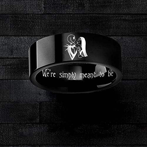 Jack and Sally Wedding Ring Bands Simply Meant to Be Nightmare Before Christmas