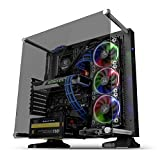 Thermaltake Core P3 Tempered Glass with Riser Cable Included Black Edition ATX Open Frame Panoramic Viewing Tt LCS Certified Gaming Computer Case CA-1G4-00M1WN-06