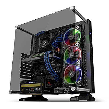 Thermaltake Core P3 ATX Tempered Glass Gaming Computer Case Chassis, Open Frame Panoramic Viewing, Black Edition, CA-1G4-00M1WN-06