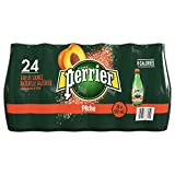 Perrier Carbonated Natural Spring Water Peach PET Bottles, 500ml, 24 Count