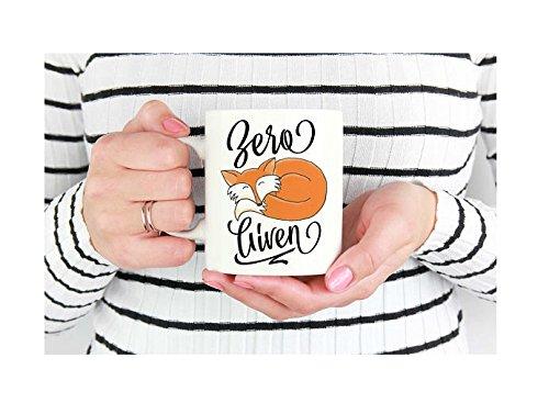Zero Fox Given Mug Office Gift Cute Coffee Mug Fox Coffee Mug Funny Fox Mug  Joke