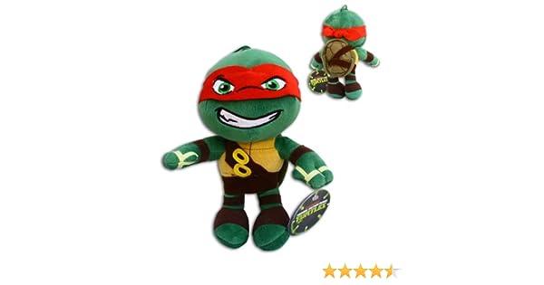 Raphael 30cm Super Soft Peluche Raph Rojo Las Tortugas Ninja Mutantes Adolescentes (TMNT) Turtles Pelicula TV