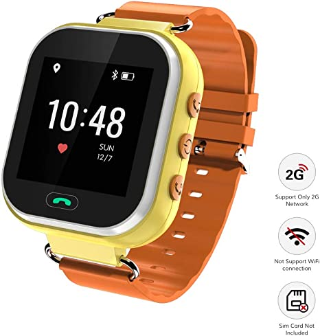 Wonbo Kids Smart Watch, GPS Phone Watch with SIM Slot SOS Call, Real-time Location Finder,Remote Monitor,Watch Remove Alert, Supports Android & iOS ...
