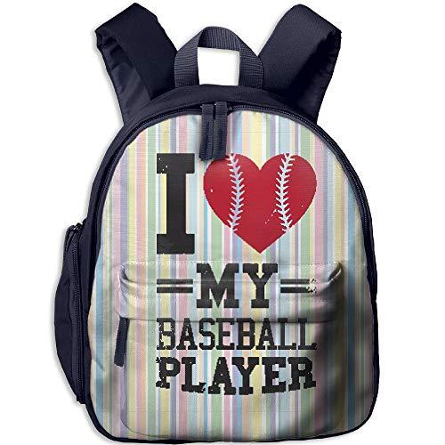 VHGJKGIN I Love My Baseball Player Unisex Original Backpack (Kids)