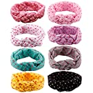 Qandsweet Baby Girl Newest Turban Headbands (8pack)