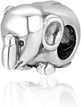 Genuine Solid Silver 925 Bird Skull Charm Bead Compatible With Europeanbracelet