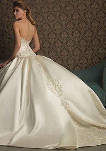 Hochzeits Brautkleid Elfenbein Backless Weiß Kleid Beauty und Emily Süß Weiß Fashion qXwxRz