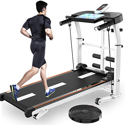 US Fast Shipment Walking Treadmill,Folding Mechanical Treadmill Shock Running Supine T-wisting Draw Rope 4-in-1 Home…