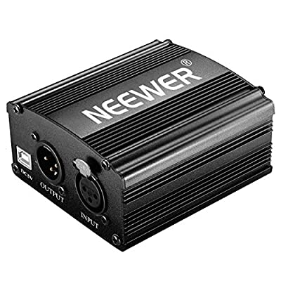Neewer 1-Channel 48V USB Phantom Power Supply with 5 feet USB Cable