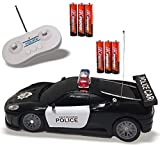 Remote Control Police Car Toy with LED Lights and Police Siren Sounds for Kids Boys and Girls