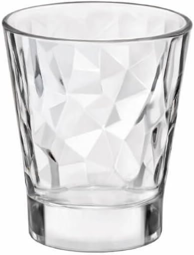 6 Pieza Bormioli Rocco Diamond Acqua transparentee Shot 80ml