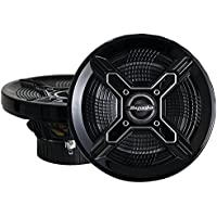 Bazooka MAC6510B 6.5-Inch Marine Coaxial Speaker, Set of 2 (Black)