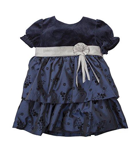 Velvet Satin Holiday Dress - 8