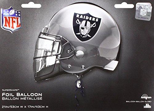 Anagram 26305 NFL Oakland Raiders Football Helmet Foil Balloon, 21
