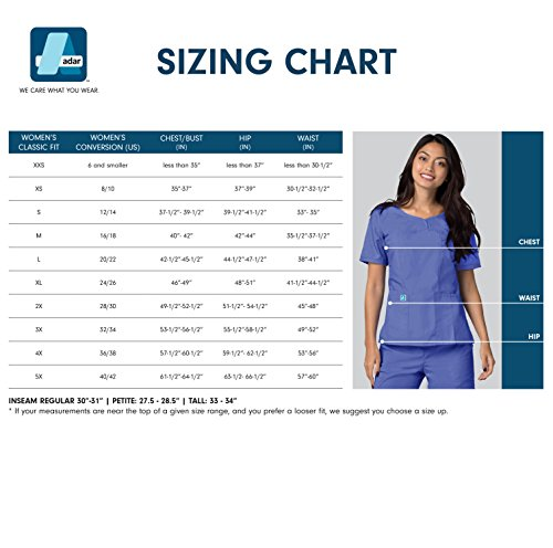 Adar Universal Women's 33'' Adjustable Belt Lab Coat - 2817 - White - L by ADAR UNIFORMS (Image #4)